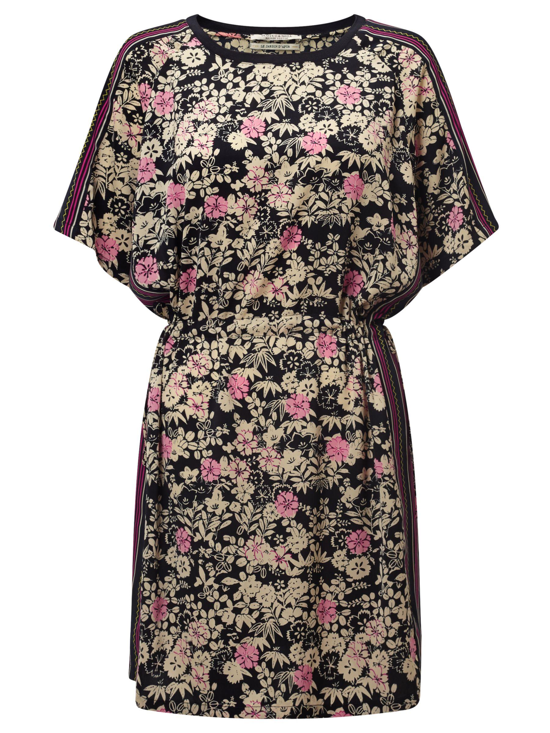 Maison Scotch Maison Scotch Floral Print Dress, Navy/Multi