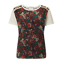 Buy Maison Scotch Floral Print Linen Back Top, Multi Online at johnlewis.com