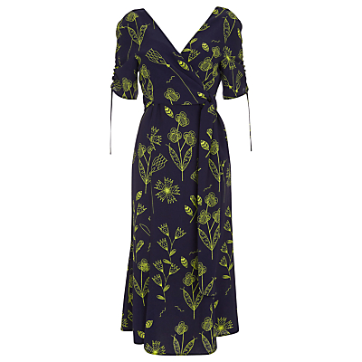 Finery Barbel Neon Squiggle Tea Dress, Multi