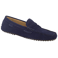 Buy Polo Ralph Lauren Wes Driving Moccasins, Navy Online at johnlewis.com