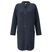 Buy East Checked Hooded Knitted Coat, Multi Online at johnlewis.com