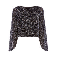 Buy Coast Masie Sequin Top, Black Online at johnlewis.com