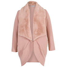 Buy Chesca Shawl Collar Wool Coat, Pink Online at johnlewis.com