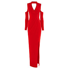 Buy Coast Ellie Jane Jersey Maxi Dress, Red Online at johnlewis.com