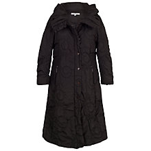 Buy Chesca Cartwheel Embroidered Long Quilted Coat, Black Online at johnlewis.com