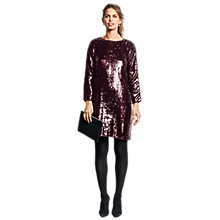 Buy hush Eleanor Dress, Burgundy Online at johnlewis.com
