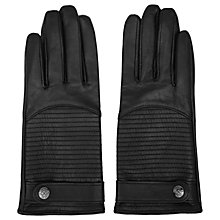 Buy Reiss Freya Horizontal Quilted Gloves, Black Online at johnlewis.com