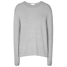 Buy Reiss Lizzie Slash Neck Jumper, Mid Grey Online at johnlewis.com