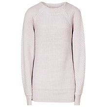 Buy Reiss Imogen Ribbed Jumper, Light Pink Online at johnlewis.com