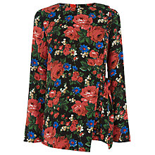 Buy Warehouse Lupita Rose Wrap Top, Red Pattern Online at johnlewis.com