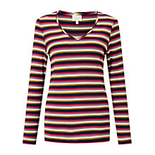 Buy East Stripe V Neck Top, Multi Online at johnlewis.com