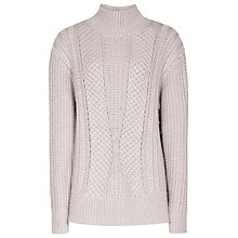 Buy Reiss Wynn Cable Knit Roll Neck Jumper Online at johnlewis.com