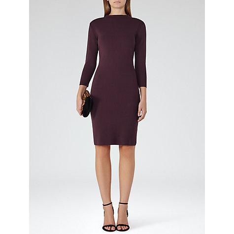 Buy Reiss Rita Knitted Dress, Berry Online at johnlewis.com