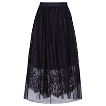 Buy Coast Rhiannon Tulle Skirt, Gunmetal Online at johnlewis.com