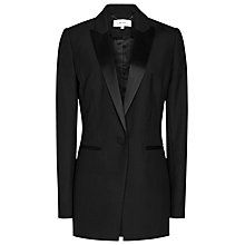 Buy Reiss Rockie Satin Lapel Jacket, Black Online at johnlewis.com