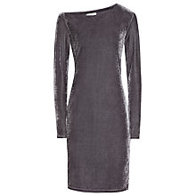 Buy Reiss Xeni Velvet Long Sleeve Dress Online at johnlewis.com