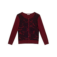 Buy Precis Petite Serenity Lace Print Cardigan, Red/Multi Online at johnlewis.com