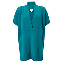 Buy East Wrap Over Jumper, Blue Online at johnlewis.com