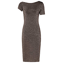 Buy Reiss Luna Knitted Bodycon Dress, Metallic Online at johnlewis.com