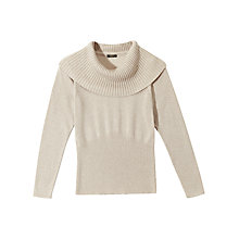 Buy Precis Petite Maren Metallic Jumper, Cream Online at johnlewis.com