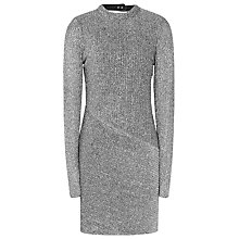Buy Reiss Candy Metallic Bodycon Dress, Silver Online at johnlewis.com