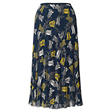 Buy East Tulip Print Pleat Skirt, Sapphire Online at johnlewis.com