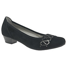 Buy Gabor Edwina Wide Block Heeled Court Shoes Online at johnlewis.com
