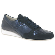 Buy Gabor Raine Wide Lace Up Trainers, Navy Online at johnlewis.com