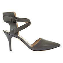 Buy Mint Velvet Aaliya Cross Strap Stiletto Court Shoes, Grey Online at johnlewis.com