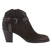 Buy Mint Velvet Ava Block Heeled Ankle Boots, Black Online at johnlewis.com