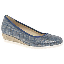 Buy Gabor Epworth Wide Wedge Heeled Court Shoes Online at johnlewis.com