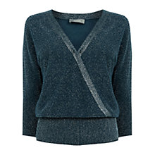 Buy Oasis Briony Sparkle Knit Jumper, Turquoise Online at johnlewis.com