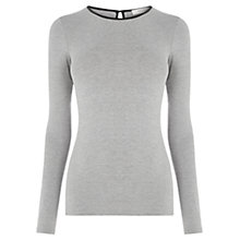 Buy Oasis Warmwear Jersey Top, Mid Grey Online at johnlewis.com
