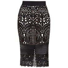 Buy Ted Baker Neoma Lace Pencil Skirt, Black Online at johnlewis.com