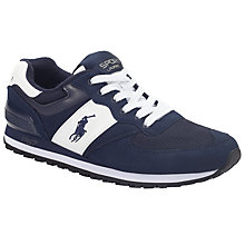 Buy Polo Ralph Lauren Slaton Trainers, Navy Online at johnlewis.com