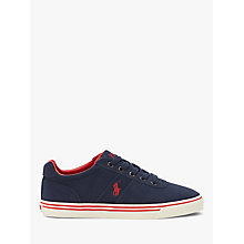 Buy Polo Ralph Lauren Hanford Suede Trainers, Navy Online at johnlewis.com