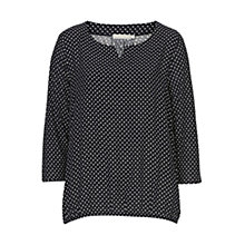 Buy Betty & Co. Printed Blouse, Dark Blue/White Online at johnlewis.com