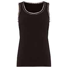 Buy Warehouse Embellished Vest, Dark Grey Online at johnlewis.com