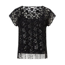 Buy Jacques Vert Bling Fringe Top Online at johnlewis.com
