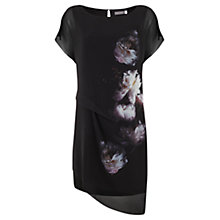 Buy Mint Velvet Luna Print Tuck Detail Dress, Black/Multi Online at johnlewis.com