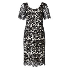 Buy Jacques Vert Leaf Lace Dress, Black Online at johnlewis.com