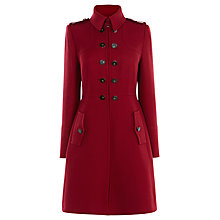 Buy Karen Millen Military Coat, Red Online at johnlewis.com