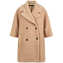Buy Jaeger Wool Blend Teddy Coat, Camel Online at johnlewis.com