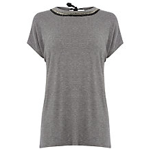 Buy Warehouse Embellished Neck T-Shirt Online at johnlewis.com
