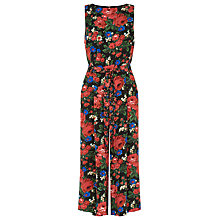 Buy Warehouse Lupita Rose Print Jumpsuit, Multi Online at johnlewis.com