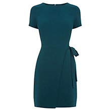 Buy Oasis Tie Side Shift Dress, Teal Green Online at johnlewis.com