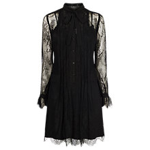 Buy Karen Millen Cute Shirt Dress, Black Online at johnlewis.com