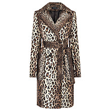 Buy Karen Millen Faux Fur Coat, Leopard Print Online at johnlewis.com