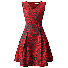 Buy Jacques Vert Petite Floral Jacquard Dress, Multi Online at johnlewis.com