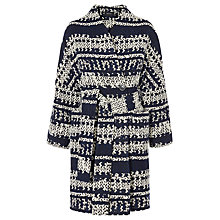 Buy Karen Millen Geometric Wrap Coat, Blue/Multi Online at johnlewis.com